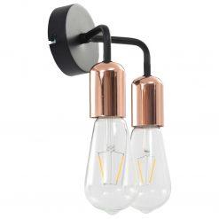 Candeeiro de parede lâmpadas de incand. 2 W preto/cobre E27