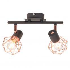 Candeeiro de teto com 2 lâmpadas filamentos LED 8 W