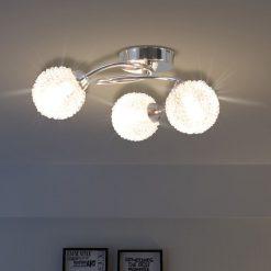 Candeeiro de teto com 3 lâmpadas LED G9 120 W