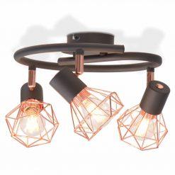 Candeeiro de teto com 3 lâmpadas filamentos LED 12 W