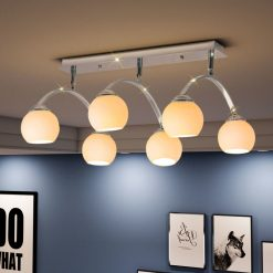 Candeeiro de teto com 6 lâmpadas LED G9 240 W