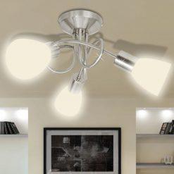 Candeeiro de teto com tonalidades de vidro para 3 lâmpadas E14