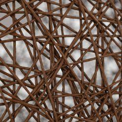 Candeeiro de teto esférico castanho 45 cm E27