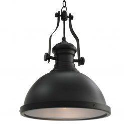Candeeiro de teto redondo E27 preto
