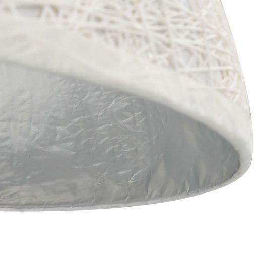 Candeeiro suspenso branco e prateado ã˜50 cm E27