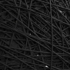 Candeeiro suspenso preto e dourado ã˜50 cm E27