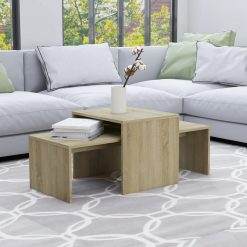 Conjunto mesas centro 100x48x40cm contraplacado carvalho sonoma
