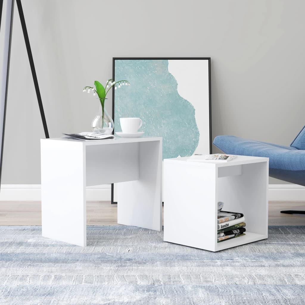Conjunto mesas de centro 48x30x45 cm contraplacado branco