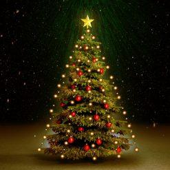 Cordão de luzes para árvore de Natal 210 LED IP44 210 cm