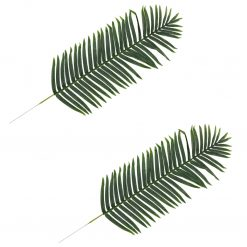 Folhas de palmeira artificiais 2 pcs verde 140 cm - Plantas Artificiais
