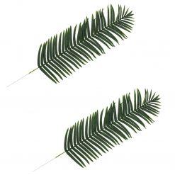 Folhas de palmeira artificiais 2 pcs verde 160 cm - Plantas Artificiais
