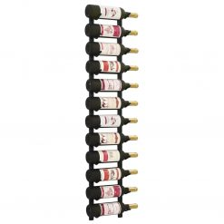 Garrafeira de parede para 12 garrafas ferro preto - Garrafeiras
