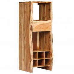 Garrafeira madeira de acácia maciça c/ nós vivos 40x40x110 cm - Garrafeiras