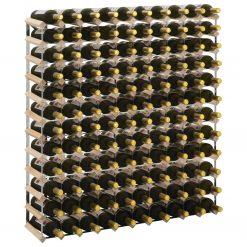 Garrafeira para 120 garrafas madeira de pinho maciça - Garrafeiras