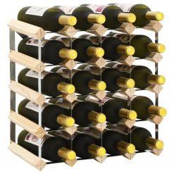 Garrafeira para 20 garrafas madeira de pinho maciça - Garrafeiras