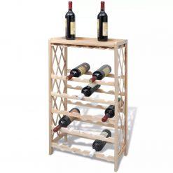 Garrafeira para 25 garrafas madeira de abeto maciça - Garrafeiras