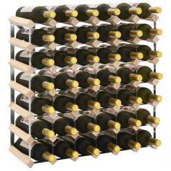 Garrafeira para 42 garrafas madeira de pinho maciça - Garrafeiras