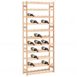Garrafeira para 77 garrafas madeira de pinho - Garrafeiras