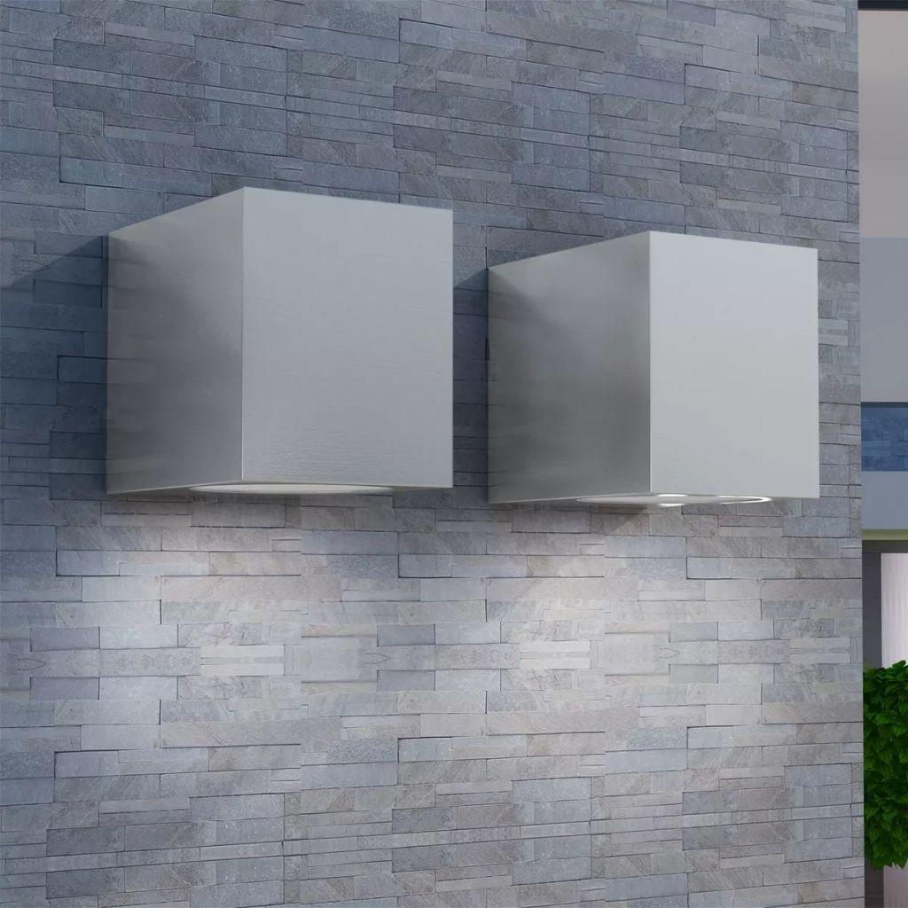 Luzes cúbicas parede exterior 2 pcs