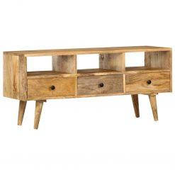 Móvel de TV 110x36x50 cm madeira de mangueira maciça
