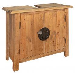 Móvel de lavatório p/ casa de banho em pinho maciço 70x32x63cm - Armários Casa de Banho
