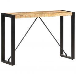 Mesa consola 110x35x76 cm madeira de mangueira maciça