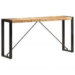 Mesa consola 150x35x76 cm madeira de mangueira maciça