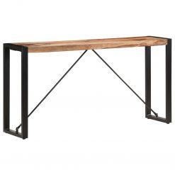 Mesa consola 150x35x76 cm madeira de sheesham maciça