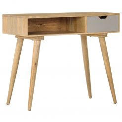 Mesa consola 89x44x76 cm madeira de mangueira maciça