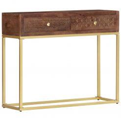 Mesa consola 90x30x75 cm madeira de mangueira maciça