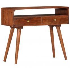 Mesa consola 90x35x76 cm madeira de acácia maciça