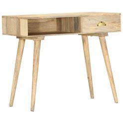 Mesa consola 90x45x75 cm madeira de mangueira maciça
