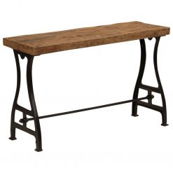 Mesa consola em madeira reciclada maciça 120x40x76 cm - Mesas de Consola