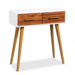 Mesa consola madeira de acácia maciça 70x30x75 cm - Mesas de Consola
