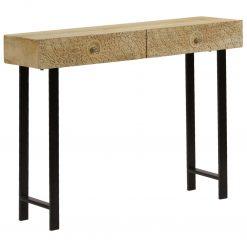 Mesa consola madeira de mangueira maciça 102x30x79 cm - Mesas de Consola