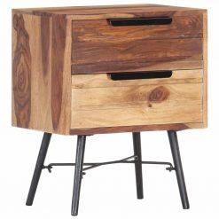 Mesa de cabeceira 40x30x50 cm madeira de sheesham maciça