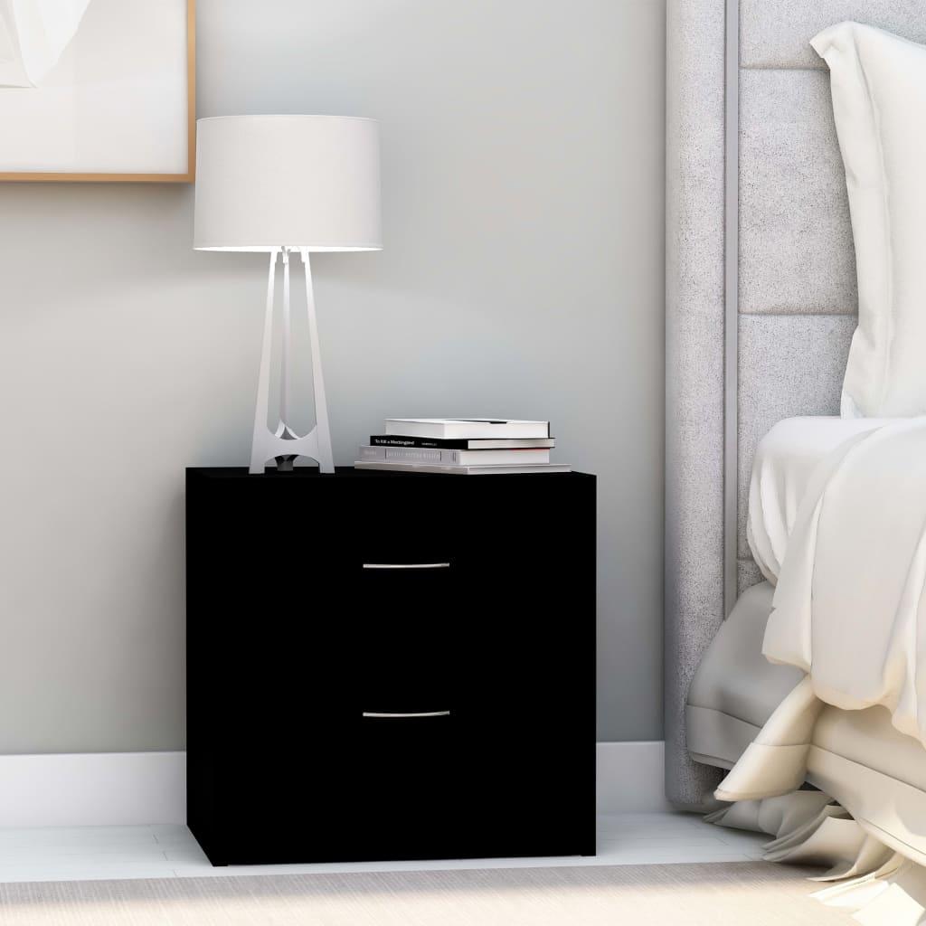 Mesas de cabeceira 2 pcs 40x30x40 cm contraplacado preto