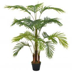 Palmeira artificial com vaso 120 cm verde - Plantas Artificiais