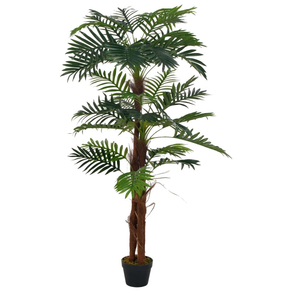 Palmeira artificial com vaso 165 cm verde - Plantas Artificiais