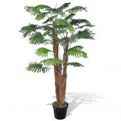 Palmeira artificial com vaso 180 cm - Plantas Artificiais