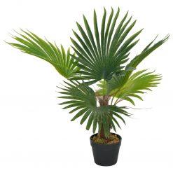 Palmeira artificial com vaso 70 cm verde - Plantas Artificiais