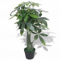 Planta árvore da sorte artificial com vaso 85 cm verde - Plantas Artificiais