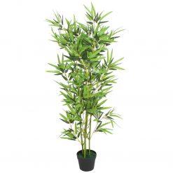 Planta bambu artificial com vaso 120 cm verde - Plantas Artificiais