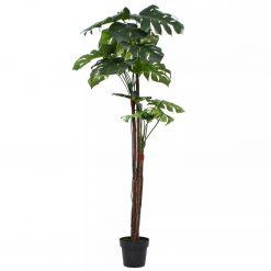 Planta costela-de-adão artificial com vaso 170 cm verde - Plantas Artificiais
