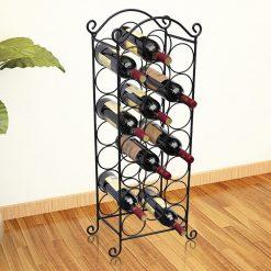 Prateleira metálica para 21 garrafas de vinho - Garrafeiras