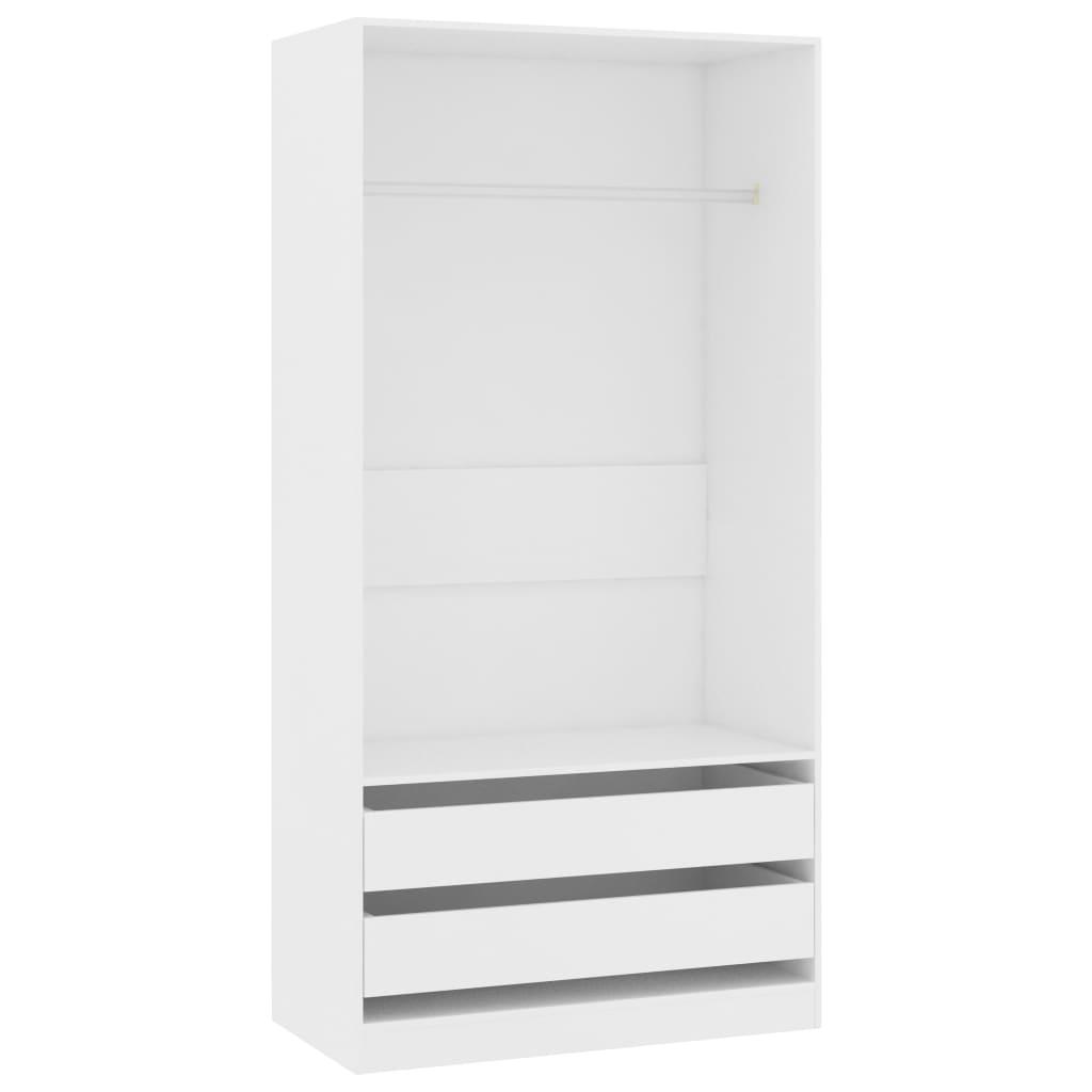 Roupeiro 100x50x200 cm contraplacado branco - Roupeiros