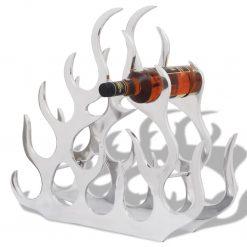 Suporte/cremalheira do vinho de alumínio para 11 garrafas