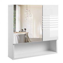 Armário com Espelho Branco 54 x 15 x 55 cm
