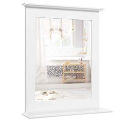 Espelho de Casa de Banho com Prateleira 46 x 12 x 55 cm