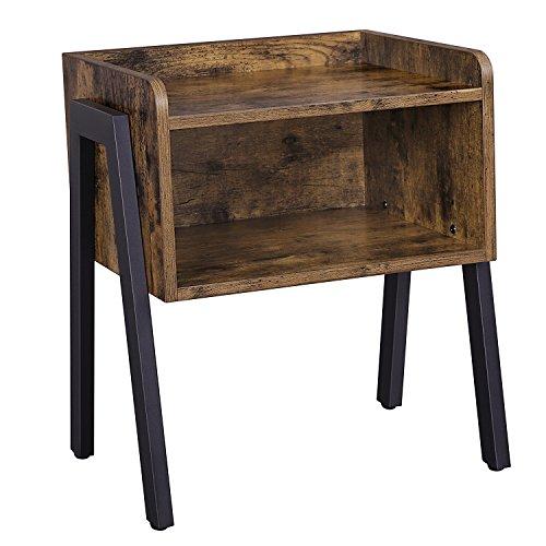 Mesa de Cabeceira e de Apoio Rústica 42 x 35 x 52 cm
